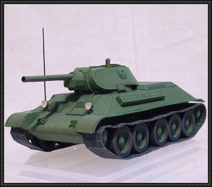 WWII T-34/76 (1941) Tank Paper Model Free Download - http://www.papercraftsquare.com/wwii-t-3476-1941-tank-paper-model-free-download.html