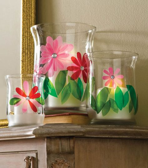 Gorgeous #DIY Gallery Glass Flower Vases --- Find directions online courtesy of @Alissa Huybers Crafts at Joann.com