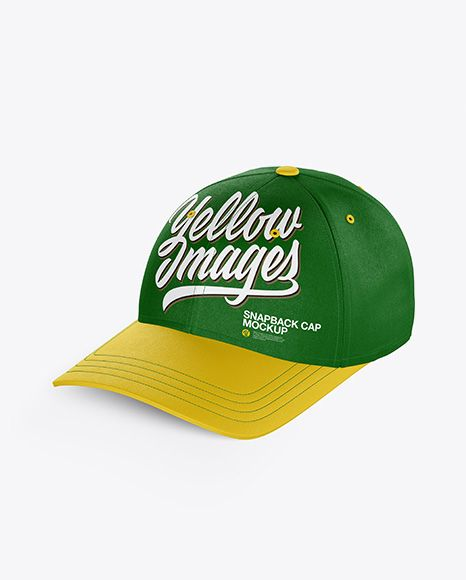 Download Snapback Cap Mockup Half Side View In Apparel Mockups On Yellow Images Object Mockups Mockup Snapback Cap Mockup Downloads