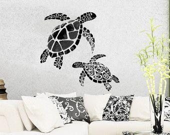 Turtle Wall Decal BABY TURTLES  Sticker Art Decor Bedroom Design Mural home decor room decor nursery cute