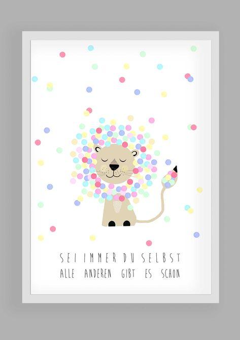 """Drucke & Plakate - Kunsdruck,Kinderbild""""Sei immer du selbst"""" - ein Designerstück von Haus-nr-26 bei DaWanda"""