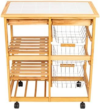 Leafred C Kitchen Amp Dining Room Cart 2 Drawer Removable Storage Rack With Rolling Wheels Heavy Duty Shelvin In 2020 Wood Colors Storage Shelves Heavy Duty Shelving