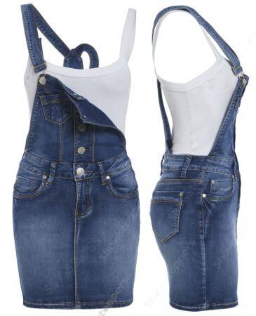 NEW DUNGAREE DENIM SHORTS Womens Size 8 10 12 14 Ladies DUNGAREES STRAPS Jean