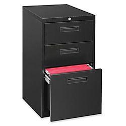 Lorell 22 D Vertical 3 Drawer Mobile Pedestal File Cabinet Metal Black Item 967581 Mobile Pedestal File Box Filing Cabinet