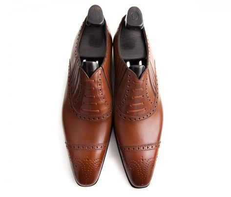 73597a660b8 Gaziano   Girling Deco brown half brogue with side gussets - Brogues Shoe    Wingtip Guide for Men — Gentleman s Gazette