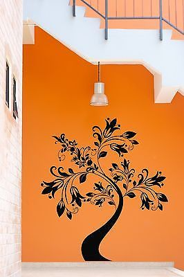 Wall Stickers Tree Nature Flower Cool Decor for Living Room z1306