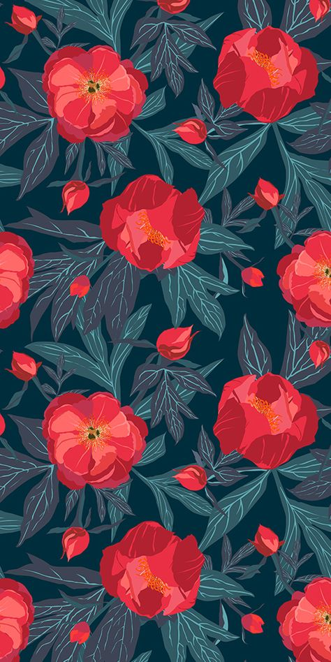 Seamless floral pattern with delicate flora. Seamless floral pattern with delicate flora. Tumblr Wallpaper, Screen Wallpaper, Wallpaper Backgrounds, Iphone Wallpaper, Wallpaper Quotes, Floral Pattern Wallpaper, Flower Wallpaper, Fabric Wallpaper, Vector Pattern