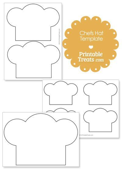 printable chefs hat outline preschool community workers