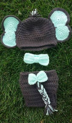 Elephant Newborn Baby Crochet Knit Costume Infant Handmade Diaper ... | 401x236
