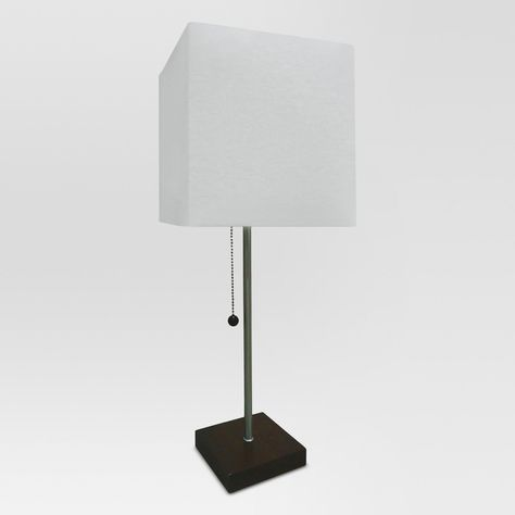 Square Stick Wooden Base Lamp Shell White Includes Energy Efficient Light Bulb Project 62 Energy Efficient Light Bulbs Lamp Project 62