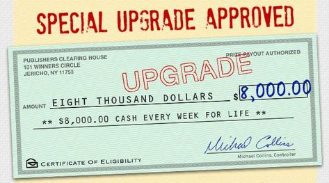 SPECIAL UPGRADE APPROVED - $8,OOO OO CASH EVERY WEEK FOR