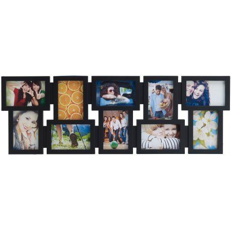 Melannco 10 Opening Black Collage 6 Inch X 4 Inch And 4 Inch X 6 Inch Framed Photo Collage Collage Picture Frames