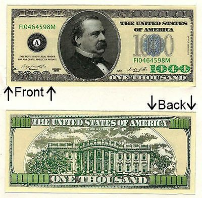 1000 One Thousand Casino Dollars Bill Novelty Notes 1 5 25 50 100 500 1000 Bride To Be Decorations Bachelorette Party Bride Glitter Bachelorette Party