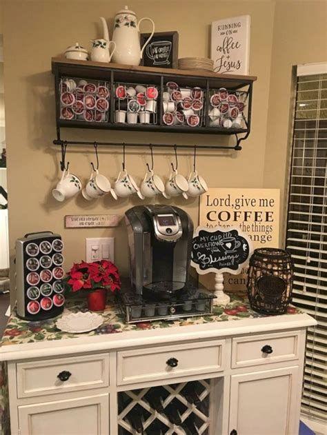 50 Diy Coffee Bar Ideas Inside The Home For Coffee Enthusiast Coffee Bar Home Farmhouse Kitchen Decor Bars For Home