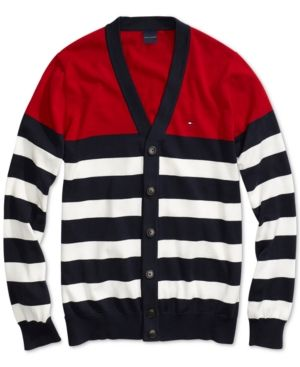 c716d740 TOMMY HILFIGER ADAPTIVE MEN'S STRIPE CARDIGAN WITH MAGNETIC BUTTONS. # tommyhilfiger #cloth