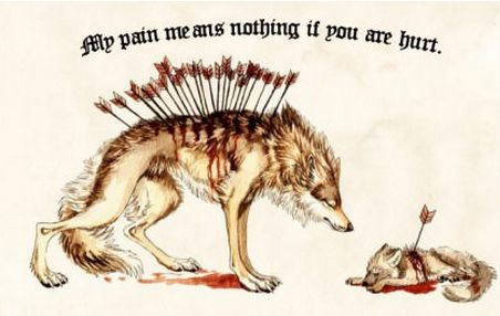 My pains means nothing if you are hurt.  #love #pain #wordsofwisdom #wolves