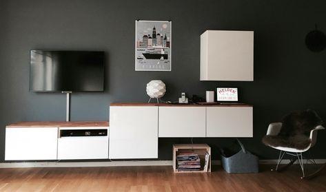 Fabelhafte Ikea Besta Wandregal Wohnzimmer Sammlung Finden ...