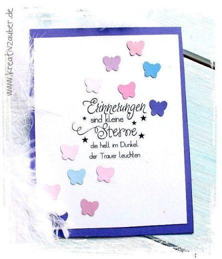 Trauerkarte Basteln Erinnerungen Sind Kleine Sterne Trauerkarte Karten Trauerkarten Gestalten