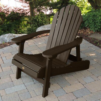 Sol 72 Outdoor Anette Plastic Folding Adirondack Chair Color Weathered Acorn Adirondack Chairs Patio Adirondack Chair Patio Set
