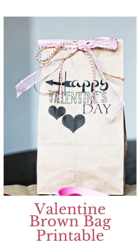 Valentine Brown Bag Printable