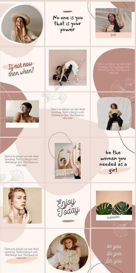 Beige Instagram puzzle grid feed template  Modern canva | Etsy
