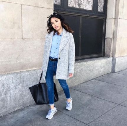 bosque Simposio comercio  How to wear sneakers with jeans skinny new balance 60+ Super ideas | Denim  on denim looks, How to wear sneakers, Scarf casual