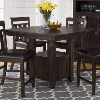 Roclincourt Counter Height Extendable Solid Wood Dining Table Dining Table In Kitchen Solid Wood Dining Table Counter Height Dining Sets