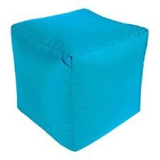 Superb Aqua Bean Bag Chair Cube Childrens Playroom Seat Kid Creativecarmelina Interior Chair Design Creativecarmelinacom
