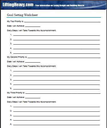 Goal Setting Worksheet From The Life Plan Dontwaitefor The Next