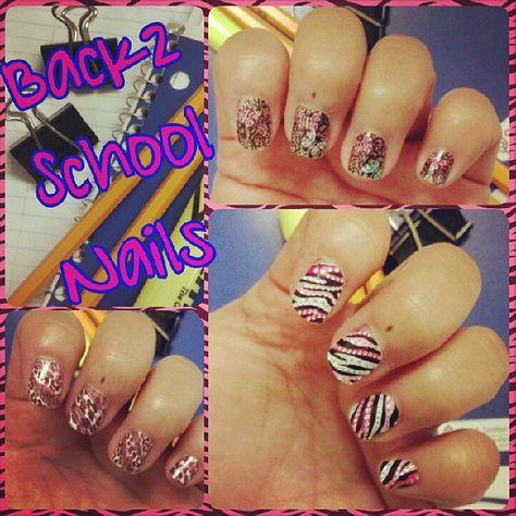 Back To School Nail Art Kiss Nail Dress Kds19x Kds21x Kds24x Limited Ed So Easy So Stylish Drugstore Fi With Images School Nails Back To School Nails School Nail Art