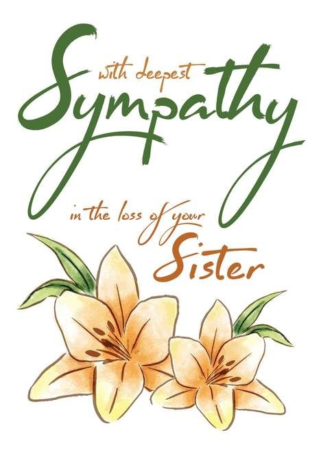 With Deepest Sympathy In The Loss Of Your Sister Card Mother