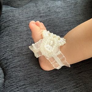Beach Wedding Barefoot Sandals Bridal Feet Jewelry Boho | Etsy