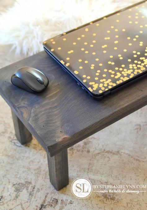 Diy Laptop Desks For Your Lap As For The Breakfast In Bed Tray Functionality Laptopsdiy Diy Laptop Lap Desk