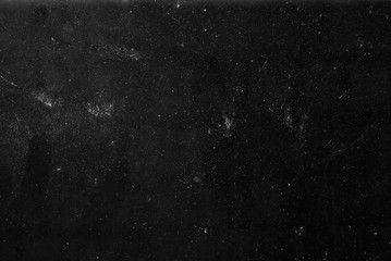 White Dust And Scratches On A Black Background The Texture Of