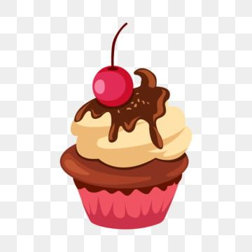 Cartoon Cupcake For Birthday Decoration Dessert Clipart Food Bakery Png And Vector With Transparent Background For Free Download Cartoon Birthday Cake Cupcake Vector Cartoon Cupcakes