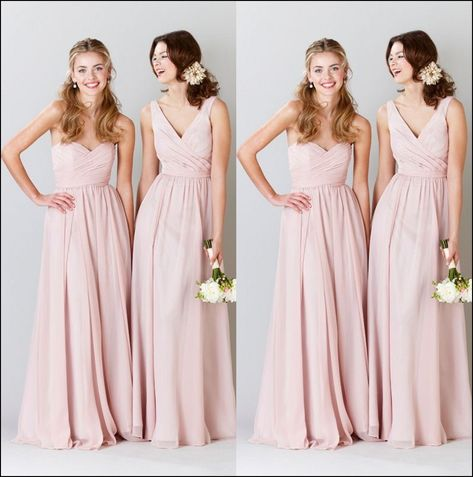 Pink Champagne Colored Bridesmaid Dresses And Gowns Ideas Pinterest Colour