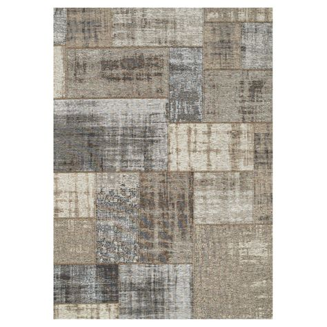 Patchwork Area Rug Gray