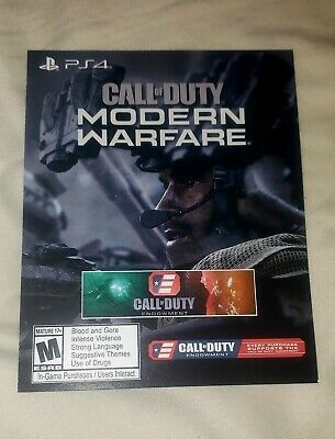 Call Of Duty Modern Warfare Calling Card Endowment Dlc Ps4 Fast Delivery Ps4 Gaming Video Modern Warfare Calling Cards Call Of Duty