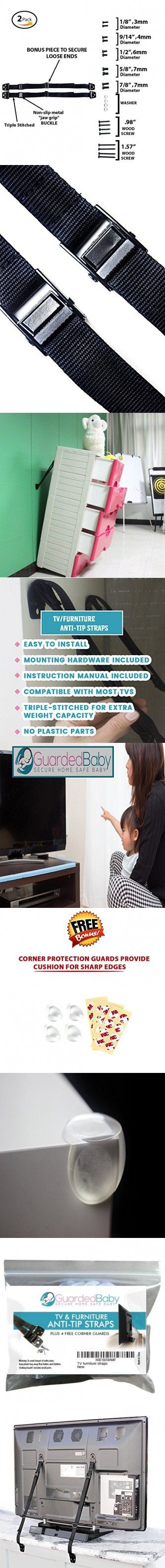 GuardedBaby TV 2 pack Furniture Anti Tip Straps