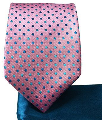 db374f276d95c Sea Pink and Blue 7-fold Silk Tie and Pocket Square Review ...