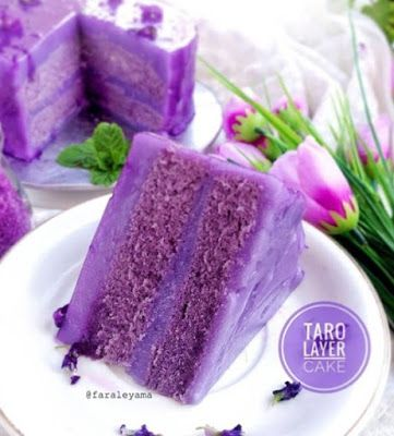 Taro Layer Cake Di 2020 Oreo Desserts Kue Lapis Resep Kue