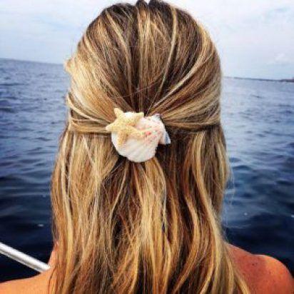 Beach hair clip mermaid clip feltie toddlers for women girls Sand dollar snap clip barrette sand dollar hair clip seashell hair clip