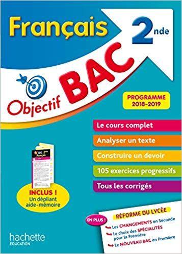 Objectif Bac Francais 2nde Isabelle De Lisle Livres