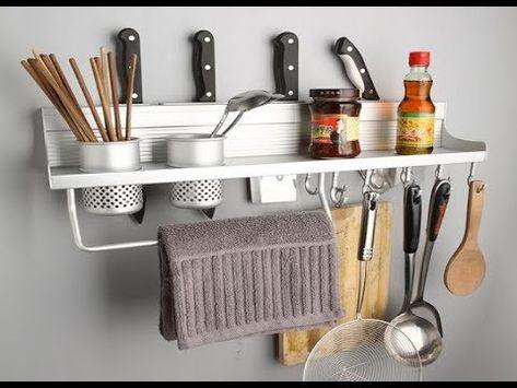 افكار لعمل رفوف للمطبخ لإستغلال اكبر مساحه للتخزين فى المطبخ عمل ديكور لمطبخك من ارفف مطابخ رائعه Yo Aluminium Kitchen Kitchen Storage Shelves Kitchen Rack