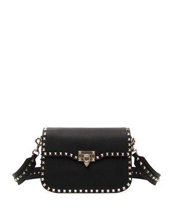 9c5d05740efb Rockstud+Medium+Leather+Saddle+Shoulder+Bag+by+Valentino+Garavani+at+ Bergdorf+Goodman.