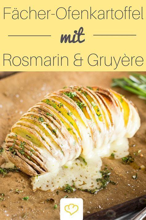Photo of Gefächerte Ofenkartoffeln mit Rosmarin und Gruyère
