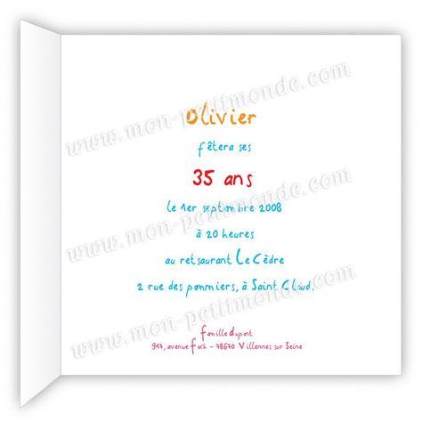 Texte Carton Invitation Anniversaire Elegant Texte Pour