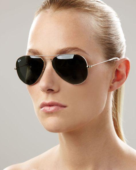 2056f258fe Rayban Aviator Sunglasses in Green Lyst