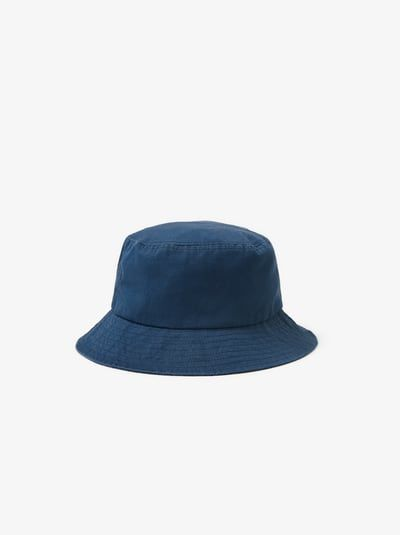 Zara Unisex Basic Bucket Hat Blue 5 Bucket Hat Hats Blue Bucket Hat