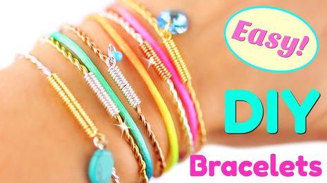 5 DIY Bracelets EASY DIY Bracelet tutorial